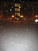 三月 冬末.初春:開閃光燈才能看見雪