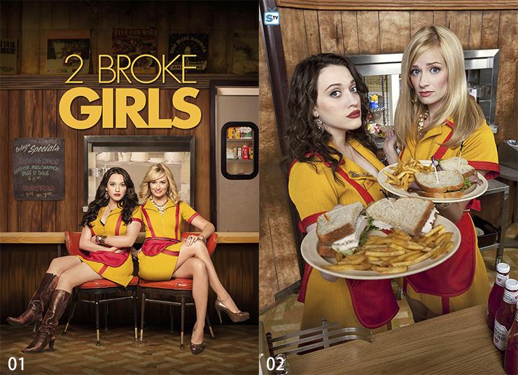 日本製畫布 電影海報 破產姊妹花 2 Broke Girls 掛畫 無框畫 @Movie PoP 賣場多款海報#