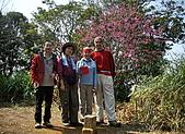 075~鵝公髻山至山上人家順遊清泉風景區:鵝公髻山三角點合影