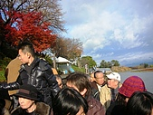 2008年秋日本賞楓紅葉之旅:保津川泛舟滿載的遊客